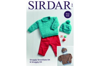 Sirdar 5161 Sweaters and Hats in Snuggly Snowflake DK and Snuggly DK (downloadable PDF)