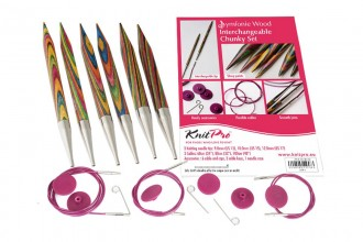KnitPro Interchangeable Needles - Symfonie Wood - Chunky Set