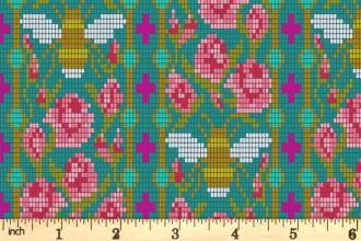 Andover Fabrics - Handiwork - Bead Work - Peacock (9250/T)