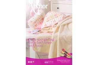 Anchor - Baby Sponge Bag and Towel with Hood Cross Stitch Chart (Downloadable PDF)