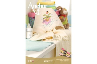 Anchor -  Bunny Bath Towel with Hood Cross Stitch Chart (Downloadable PDF)