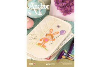 Anchor -  Bunny Diary Cover Cross Stitch Chart (Downloadable PDF)