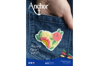 Anchor - Flower Heart Patch Embroidery Pattern (Downloadable PDF)