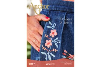 Anchor - Flowers on Jeans Embroidery Pattern (Downloadable PDF)