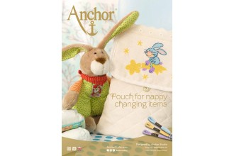 Anchor -  Pouch for Nappy Changing Items Cross Stitch Chart (Downloadable PDF)