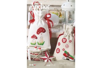 Anchor -  Toadstool Pair Gift Sack and Circles Gift Sack Cross Stitch Chart (Downloadable PDF)
