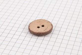 Round Coconut Shell Button, 20mm