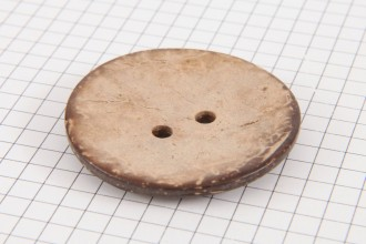 Round Coconut Shell Button, 44mm