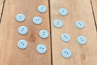 Attic24 - Blue Bunting Buttons (Pack of 13)