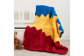 Bernat - 1-2-3 Crochet Blanket in Blanket Brights (downloadable PDF)