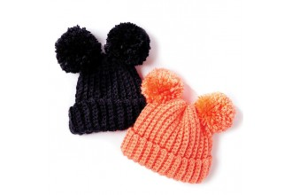 Bernat - Adorable PomPom Crochet Hat in Softee Baby Chunky (downloadable PDF)