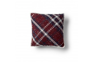 Bernat - Argyle Plaid Crochet Cushion in Softee Chunky Tweeds (downloadable PDF)