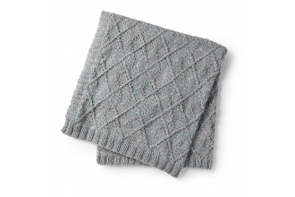 Bernat - Argyle Texture Knit Blanket in Softee Chunky Tweeds(downloadable PDF)