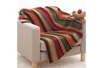Bernat - Basic Stripes Blanket in Softee Chunky (downloadable PDF)