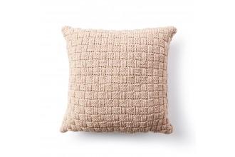 Bernat - Basketweave Knit Pillow in Maker Outdoor (downloadable PDF)