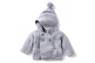 Bernat - Cozy Crochet Hoodie in Softee Baby (downloadable PDF)