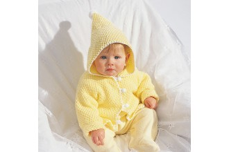 Bernat - Hooded Baby Jacket in Softee Baby (downloadable PDF)