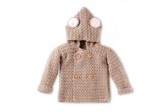 Bernat - Mousie Crochet Hoodie in Softee Baby (downloadable PDF)