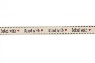 Berties Bows Grosgrain Ribbon - 16mm wide - Baked with Love - Ivory (3m reel)