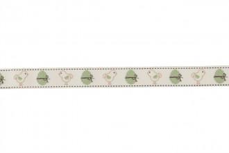 Berties Bows Grosgrain Ribbon - 16mm wide - Vintage Easter Chicks - Ivory (3m reel)