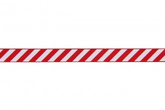 Berties Bows Grosgrain Ribbon - 9mm wide - Candy Stripe - White on Red (5m reel)
