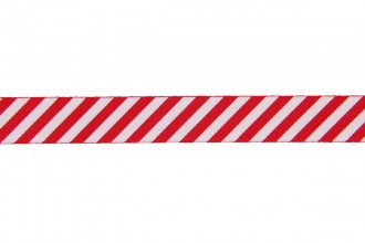 Berties Bows Grosgrain Ribbon - 16mm wide - Candy Stripe - White on Red (5m reel)