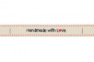 Berties Bows Grosgrain Ribbon - 16mm wide - Handmade with Love - Ivory (5m reel)