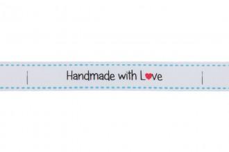 Berties Bows Grosgrain Ribbon - 16mm wide - Handmade with Love - White (5m reel)