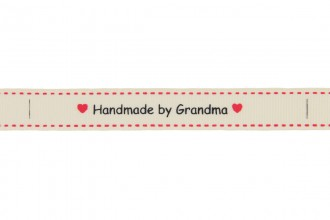 Berties Bows Grosgrain Ribbon - 16mm wide - Handmade by Grandma - Ivory (5m reel)