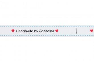 Berties Bows Grosgrain Ribbon - 16mm wide - Handmade by Grandma - White (5m reel)