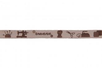 Berties Bows Cotton Ribbon - 10mm wide - Handmade - Natural (5m reel)