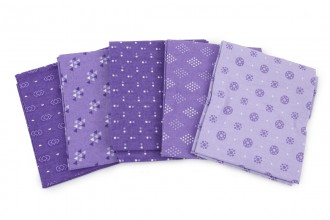 Craft Cotton Co - Essential Trend 3 - Lilac - Fat Quarter Bundle (pack of 5)