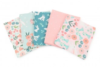 Craft Cotton Co - Spring Bunny - Fat Quarter Bundle (pack of 5)