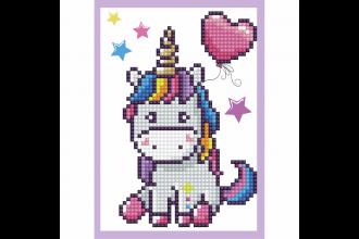 Diamond Dotz - Greeting Card - Baby Unicorn (Diamond Painting Kit)