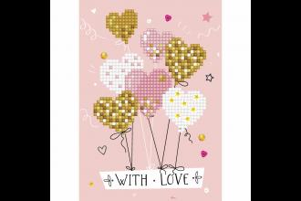 Diamond Dotz - Greeting Card - Love Balloons (Diamond Painting Kit)