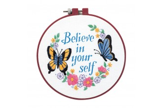 Dimensions - Learn-A-Craft - Believe in Yourself with Hoop (Embroidery Kit)
