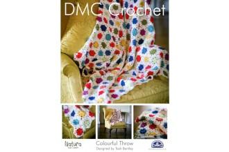 DMC 14894L/2 Crochet Colourful Throw (Leaflet)