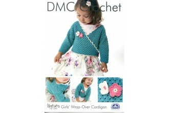 DMC 14931L/2 Crochet Girls' Wrap-Over Cardigan (Leaflet)