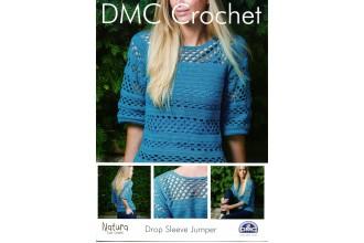 DMC 15040L/2 Crochet Drop Sleeve Jumper (Leaflet)