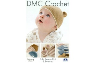 DMC 15045L/2 Crochet Baby Beanie Hat and Bootees (Leaflet)