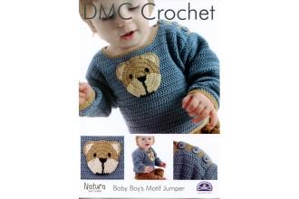 DMC 15094L/2 Crochet Baby Boy's Motif Jumper (Leaflet)