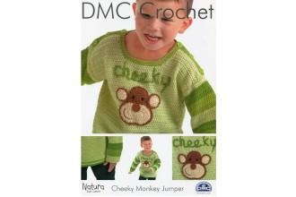 DMC 15209L/2 Crochet Childrens Cheeky Monkey Jumper (Leaflet)