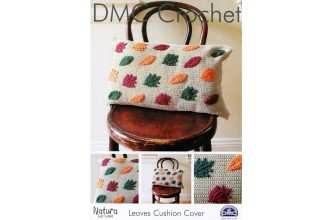 DMC 15216L/2 Crochet Leaves Cushion Cover (Leaflet)