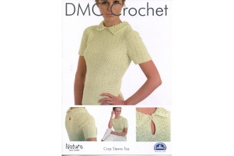 DMC 15271L/2 Crochet Crop Sleeve Top (Leaflet)