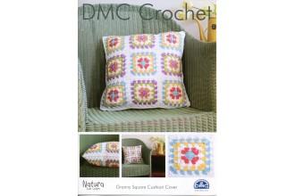 DMC 15272L/2 Crochet Granny Square Cushion Cover (Leaflet)