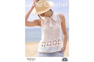 DMC 15369L/2 Crochet Top with Collar (Leaflet)