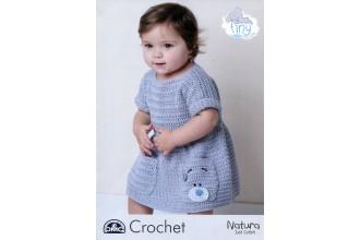DMC 15431L/2 Tiny Tatty Teddy Crochet Baby Slouchy Dress (Leaflet)