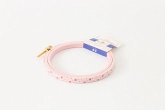 DMC Painted Wood Embroidery Hoop, 10.5cm / 4in - Pink