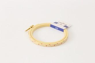 DMC Painted Wood Embroidery Hoop, 10.5cm / 4in - Yellow