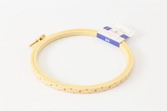 DMC Painted Wood Embroidery Hoop, 15.5cm / 6in - Yellow